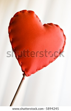 red leather heart