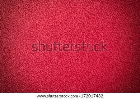 Red leather texture with vignette