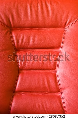 red leather upholstery on chair