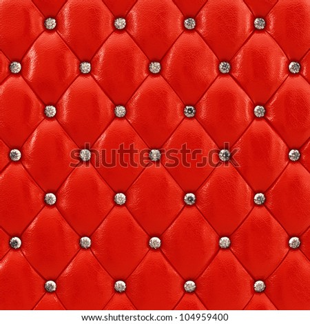 Red leather upholstery pattern , 3d illustration