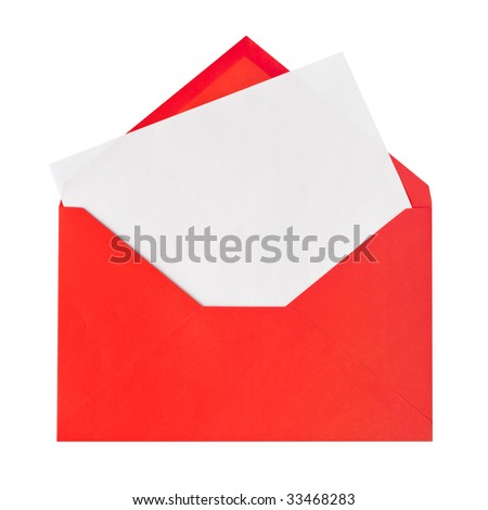 Red letter isolated on white background