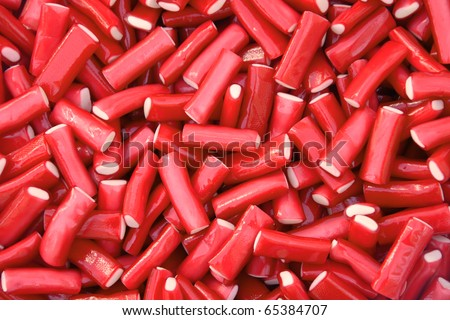 Red licorice background
