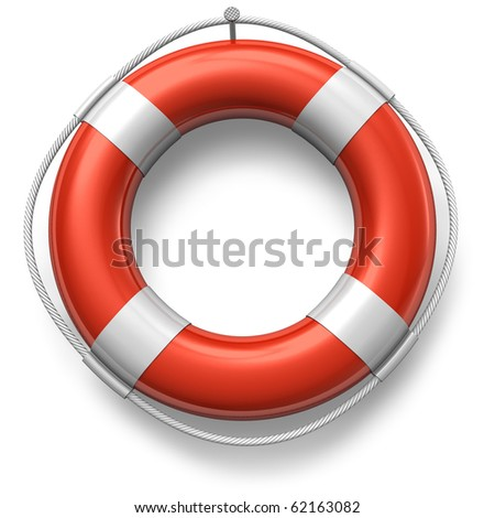 Red lifebelt