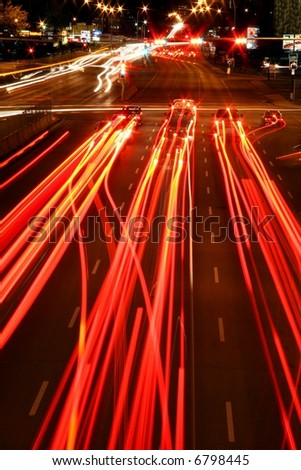 Red Light trails