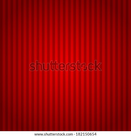 Red lines abstract background. Red striped template in many red colors with a gradient shadow top and bottom.