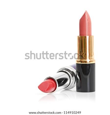 Red lipstick and nail polish