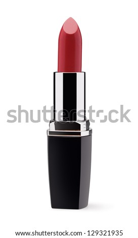 Red lipstick isolated on white background Photo stock ©