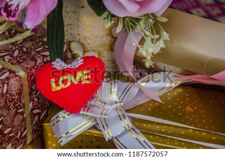 Red love heart and present boxes #1187572057