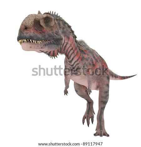 red majungasaurus walking