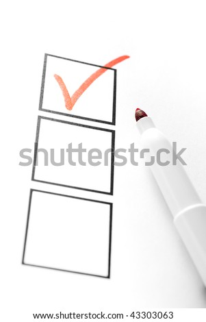 Red Marker with Check Box