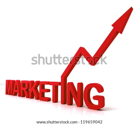 Red Marketing Word Meaning Promotion Sales And Advertising