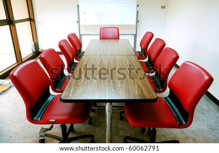Red Meeting room in the office