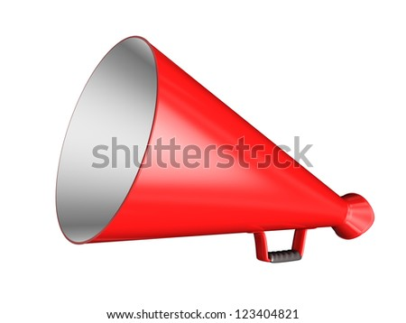 Red Megaphone - isolated on white background
