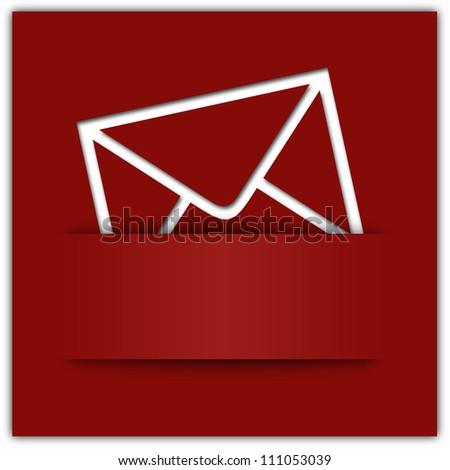 Red message applique graphic design background with copyspace
