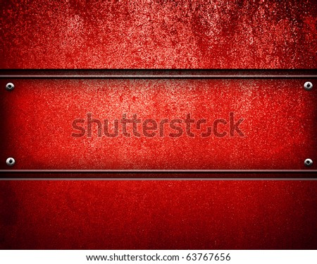 red metal background - stock photo