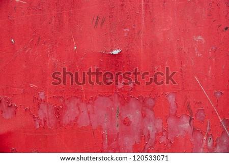 Red metal grunge texture background