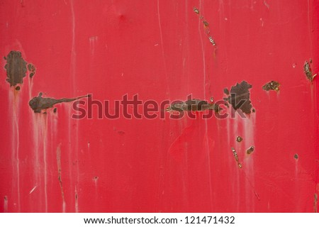 Red metal grunge texture background