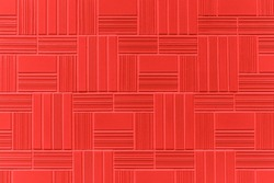 Red modern stone wall pattern and background seamless