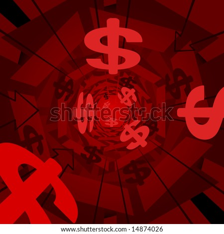 Red money 3D background (vector version also available)