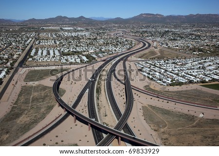 Red Mountain Freeway, Loop 202, Mesa, Arizona