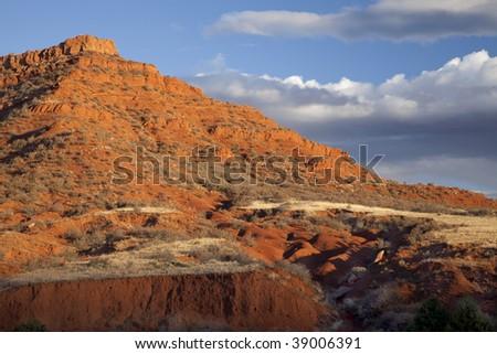 Red Mountain Open Space semi desert landscape in northern Colorado near Wyoming border, autumn scenery