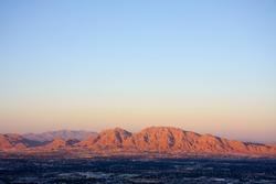 red mountains near las vegas at sunset