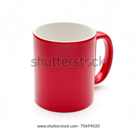 Mugs on white