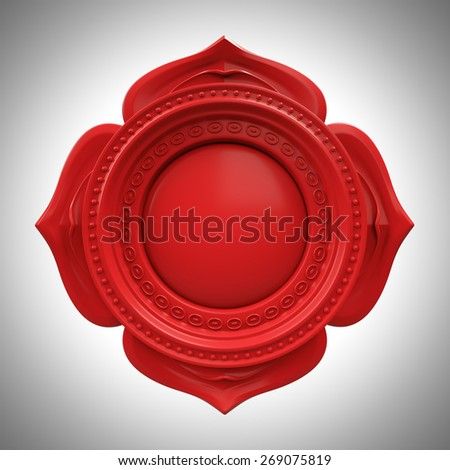 red Muladhara root or base chakra base, 3d abstract symbol, isolated color design element Stock photo ©