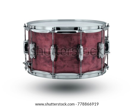 red musical bass drums