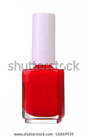 Red nailpolish isolated