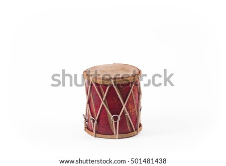 red national musical drum ...