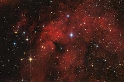red nebula in milky way