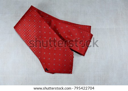 Red necktie on the occasion of Chinese New Year,Red necktie on Valentines Day,Fashion Red necktie - Shutterstock ID 795422704