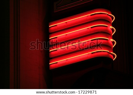 red neon lights