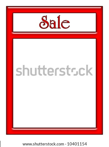 Red Neon Sale Sign with Text Area