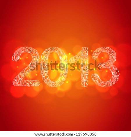 Red New Year 2013 Card