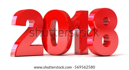 red new year 2018. conceptual...