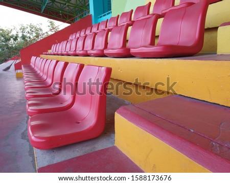 red nobody empty chair sport