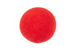 Red Nose Day, red nose on white background