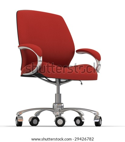 Red Office Chair Stock Photo 29426782 : Shutterstock