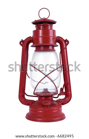 Red oil lamp - stock photo