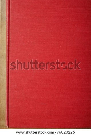 red old book - stock photo