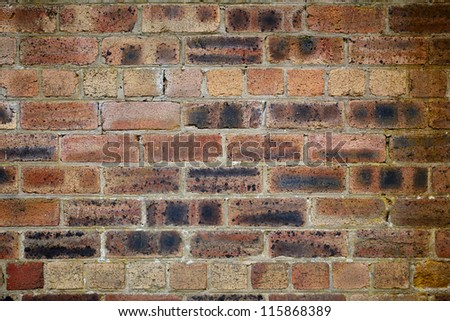 Red old dirty brick wall texture background