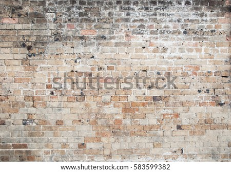 red old weathered exposed brick wall background #583599382
