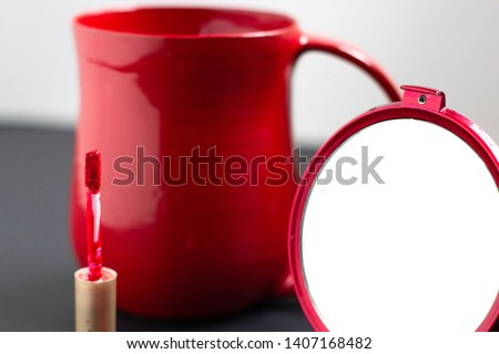 Red on red on red. Morning coffee kiss. #1407168482
