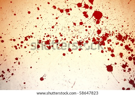 red or blood on white wall