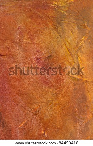 Red Orange Abstract Acrylic Painted Background