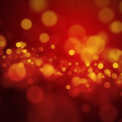 Red orange bokeh background