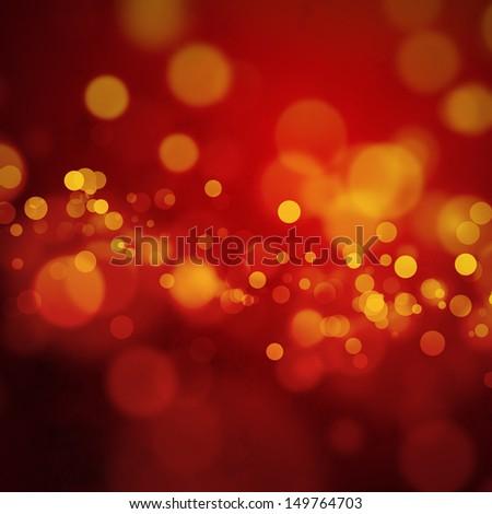 Red orange bokeh background