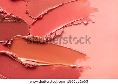 Red orange brown lipstick background texture smudged Stock photo ©